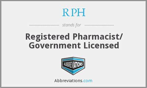 Registered Pharmacist by Rph Registered Pharmacist Government Licensed