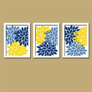 blue yellow wall art bedroom canvas or prints bathroom