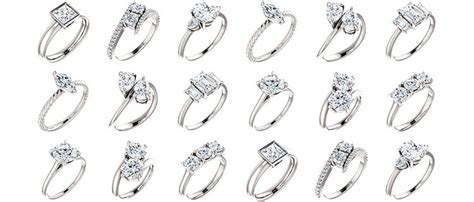 solitaire two stone and three stone engagement rings kimberfire