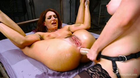 Giant Anal Dildo Squirt