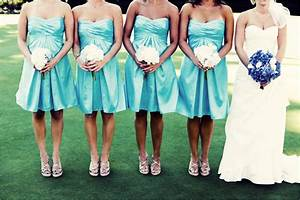 Fancy soft aqua colored dresses for your bridesmaids ...