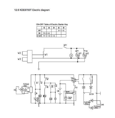 kipor ats wiring diagram kipor kde6700t auto start automatic generator