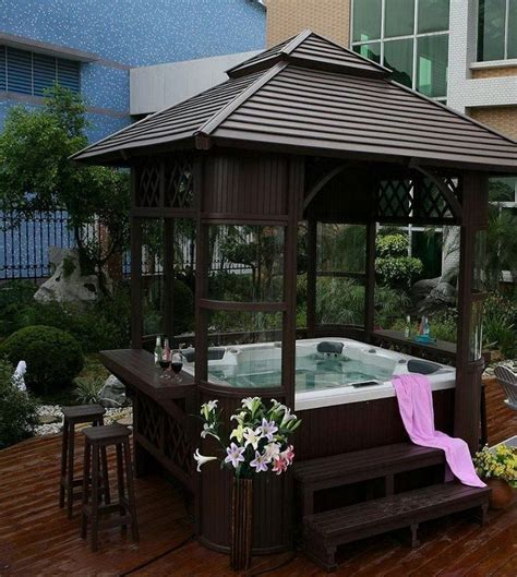 sizzling outdoor hot tubs