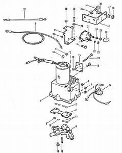 Mercury Marine 90 Hp  6 Cyl   Power Trim Components Parts