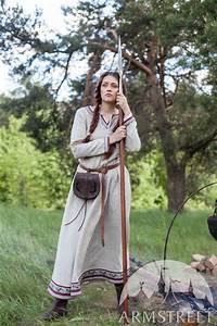 "Viking Natural Linen Dress ""Eydis the Shieldmaiden ..."
