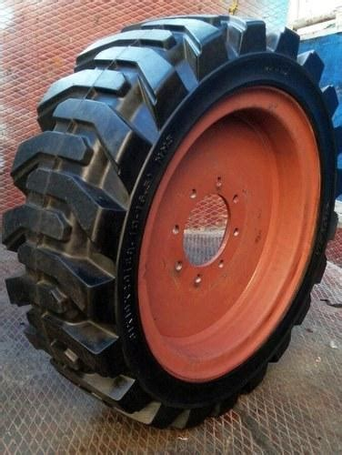 skid steer tire bobcat solid resilient tyres manufacturer  chennai