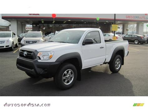 toyota tacoma regular cab   super white
