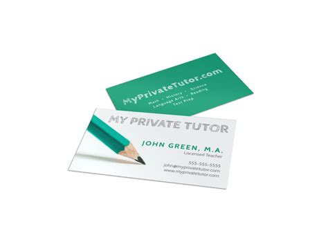education training business card templates