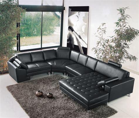 canape noir cuir idee deco canape cuir noir ciabiz com