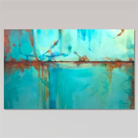 Bilder In Türkis by Abstract Painting Large Turquoise Blue Green Orange