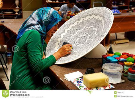 turkey arts  crafts workshop editorial photography