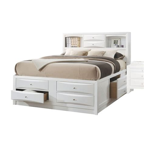 white size bed with storage shop acme furniture ireland white bed with storage free 20980