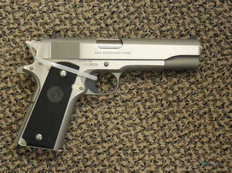 Colt 1911 Stainless Government Model 45 Acp For Sale