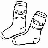 Socks Printable Coloring Outline Template Sock Clip Fox Vector Newdesign Via sketch template