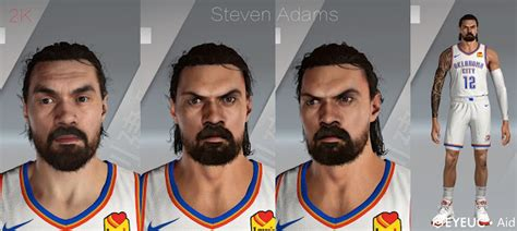 Steven Adams Cyberface and Body Model By Aid [FOR 2K21 ...