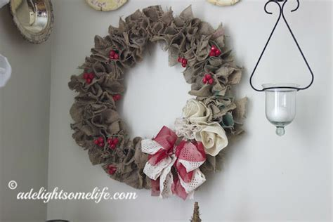 French Country Living Room Ideas Pinterest by Christmas Burlap Wreath Tutorial A Delightsome Life