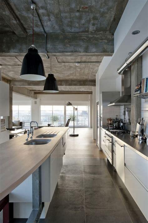 concrete kitchen design 30 cool industrial design kitchens Industrial