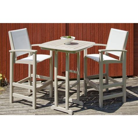 oakland living belmont 36 in 3 patio bar set with