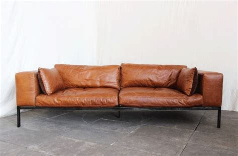 canape retro canape cuir marron vintage