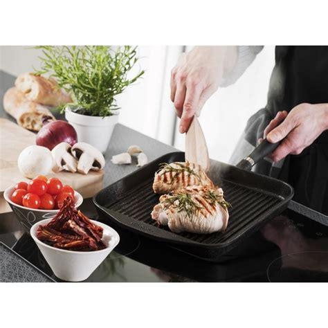 poele cuisine saine poêle grill en fonte carrée 24x24 cm ref 29t skeppshult