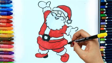 wie zeichnet man weihnachtsmann ausmalen kinder hd