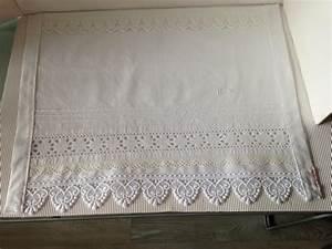 Leinen Gardinen Weiß : vintage gardinen scheibengardine weiss leinen spitze shabby ein designerst ck von gittirai ~ Whattoseeinmadrid.com Haus und Dekorationen