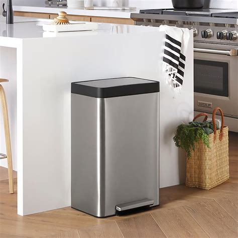 Kohler Stainless Steel 13 Gal Step Trash Can  The