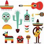 Mexican Clipart Decoration Icons Clip Mexico Vector