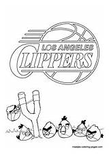 Coloring Pages Angeles Los Clippers Lakers Nba Angry Birds 2021 Related Bowl sketch template