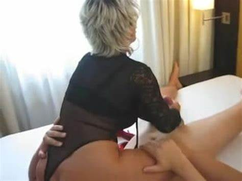 Blond Cougar Sits On His Face