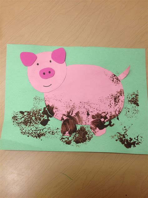 pre k muddy pig craft school projects animals on the 962 | bdf5eec78a10c480b1eac31a943338cf