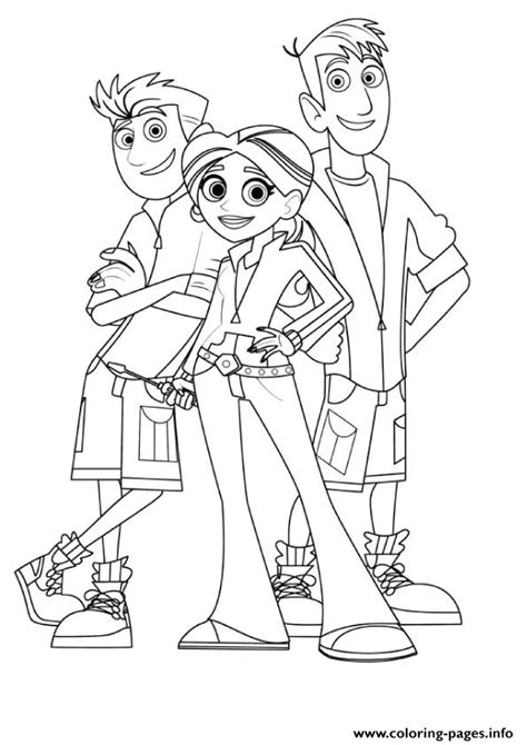 wild kratts coloring pages coloring pages printable
