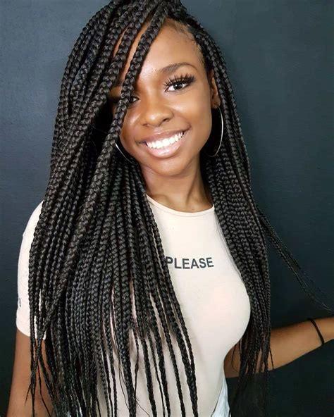 trendy box braids styles stylists recommend