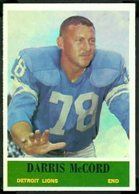 darris mccord  philadelphia  vintage football card gallery