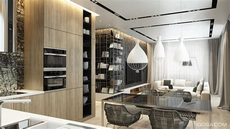 home interior design combining  cool wall texture