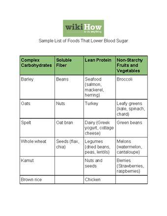 ways   blood sugar  diet wikihow