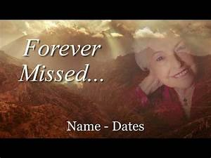 memorial template complete slideshow presentation for With funeral slideshow template