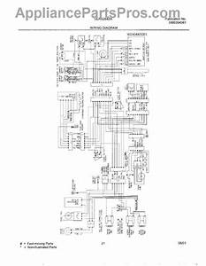 Parts For Frigidaire Glrs264zaw1  Wiring Diagram Parts
