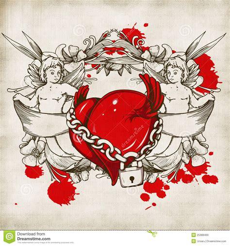 vintage valentine background stock illustration image