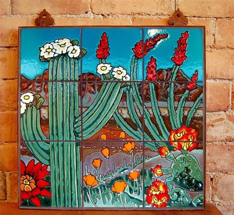 saguaro landscape carly quinn tucson az tile murals