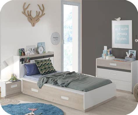 but chambre enfants chambre enfant iléo blanche et bois set de 4 meubles