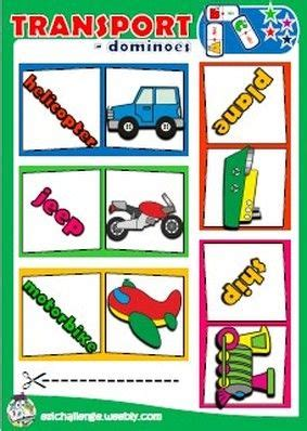 transportation dominoes  images esl teaching