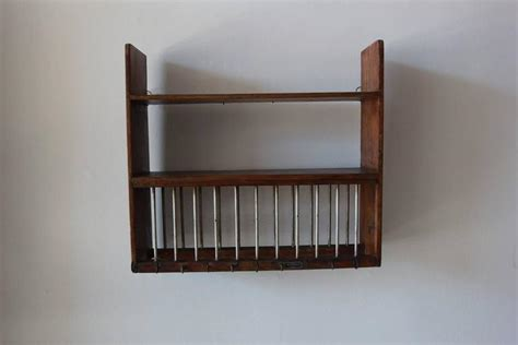 rustic wall hanging dish rack  stdibs