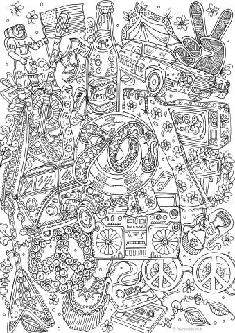 groovy  printable adult coloring pages  favoreads