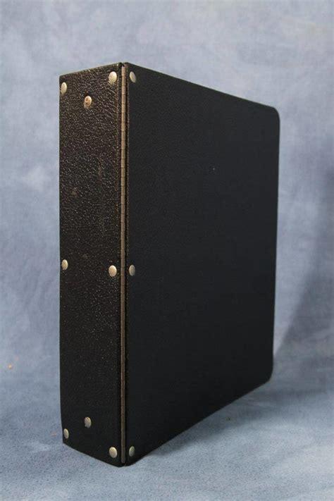 vintage heavy duty   ring piano hinge binder black