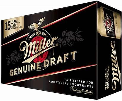 Draft Miller Genuine Cans Bottles Pale Canadian