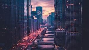 Wallpaper of Chicago, Skyscrapers, Bridges, Traffic