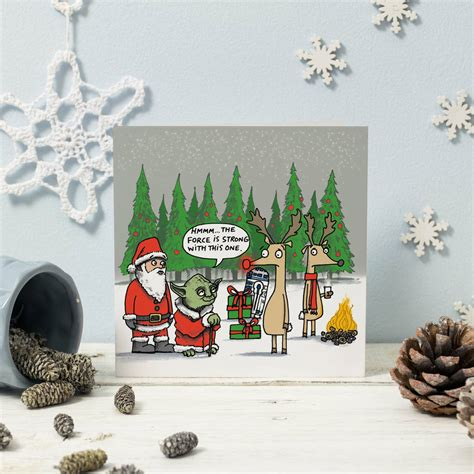Star wars christmas cards funny christmas cards christmas pictures xmas cards christmas humor diy cards star wars christmas decorations christmas star merry christmas. Star Wars Christmas Card Four Pack By Cardinky | notonthehighstreet.com