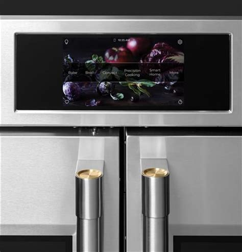 ztdxfpsnss monogram  smart french door electric convection double wall oven statement