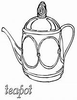 Teapot Coloring Pages Teapot1 sketch template